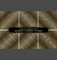 collection of art deco geometric striped vector image vector image
