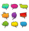 comic colorful blank speech bubbles collection vector image vector image