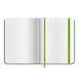 copybook template vector image vector image
