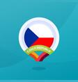 czech republic flag map location pin european vector image