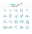 easy icons 50e computer virus vector image