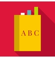 English book icon flat style vector image vector image
