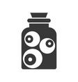 eyeball in jar halloween solid icon vector image vector image