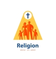 family logo design template people or religion vector image vector image