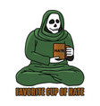 favorite cup of hate quote of drinking vector image