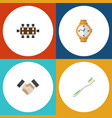 flat icon lifestyle set of timer boardroom vector image vector image