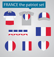 France the patriot set vector image vector image