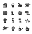 Gardening Black Icons Set vector image