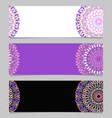 geometrical horizontal colorful flower mandala vector image vector image