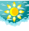 Good weather background vector image