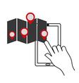 gps service design vector image