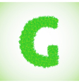 grass letter G vector image vector image