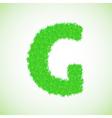 grass letter G vector image