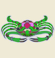 green crab monster with a pink back vector image vector image