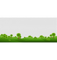 green landscape isolated with transparent vector image vector image