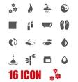grey spa icon set vector image vector image