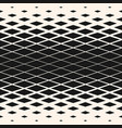 halftone seamless pattern with rhombuses diamond vector image