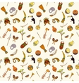 hand-drawn seamless african pattern vector image vector image