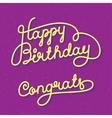 Happy Birthday Congrats vector image