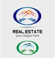 house roofs icon logo for the company isol vector image vector image