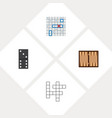 icon flat entertainment set of backgammon battle vector image vector image