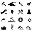 icons construction and repair vector image vector image