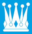 kingly crown icon white vector image vector image