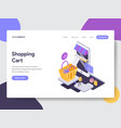 landing page template of online shopping cart vector image vector image