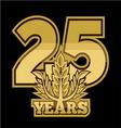 LaurelNew New 25 godina resize vector image vector image