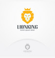lion head logo design vector image vector image
