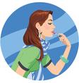 lipstick girl vector image vector image