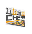 logo for chess board vector image