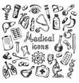Medical icons and elements of health vector image vector image