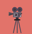 movie camera on tripod vector image vector image