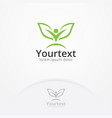 nature people logo vector image vector image