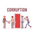 officials arrested in corruption case vector image