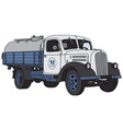 Old dairy truck vector image vector image