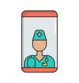 online doctor consultation simple medicine icon vector image