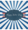 Paper Label with Happy Labor Day Text vector image
