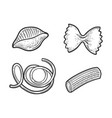pasta products set sketch vector image