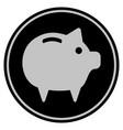 piggy bank black coin vector image