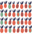 pineapples seamless abstract fruits patten it is vector image vector image