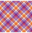 pink orange plaid madras seamless pattern vector image vector image