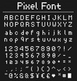 pixel game font retro styled vector image vector image