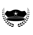 police icon image vector image vector image