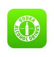 quality vodka icon green vector image