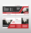 Red annual report Leaflet Brochure Flyer vector image vector image