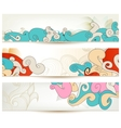 Retro swirls banners vector image