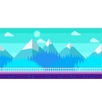 seamless cartoon winter landscape vector image vector image