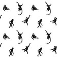 seamless monkeys pattern vector image